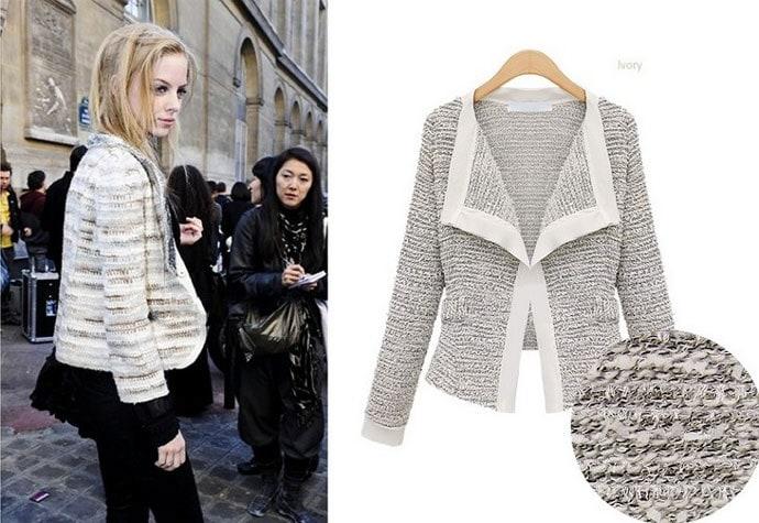 ヨーロッパで流行の襟付きテーラードジャケット