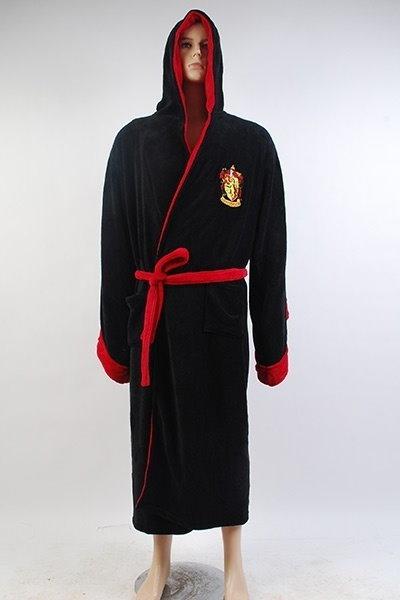Harry Potter Griffindor Bathrobe Bath Robe Cosplay Costume Kimono Size M (Size: M)