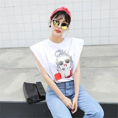 フー・アー・ユーナッシーティーシャツプリントティーなしティールーズフィットヴィンテージ・ルックnew ミン袖Tシャツ/ Tシャツ/韓国ファッション