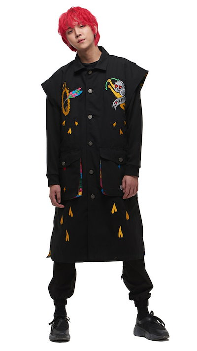 MAN G韓国ファッションブランドMAN G公式販売店ASELLER 19SSシーズン MGOT19SS103BK