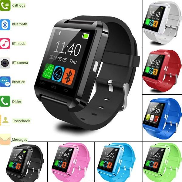 高品質の多機能ブルートゥーススマートウォッチU8デジタルスポーツはiOSのAndroid携帯電話8 Cの時計