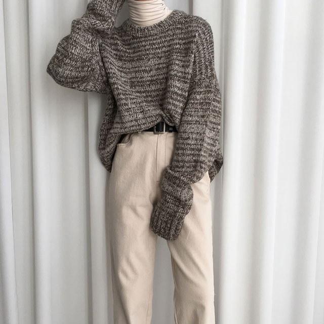 [ラルム】リバーオーバーニット3col korea fashion style