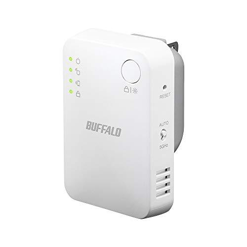 BUFFALO WiFi 無線LAN 中継機 WEX-733DHPS/N 11ac 433300Mbps コンセント直挿しモデル 有線LANポート搭載 簡易パッケージ 日本メーカー【iPhone11/