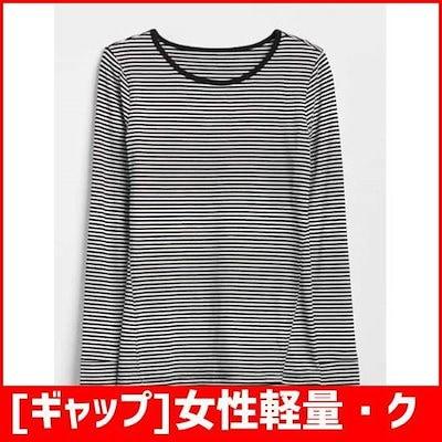 [ギャップ]女性軽量・クルー・ネック・・ストライプ長袖シャツ5128326013099 /プリントTシャツ/キャラクターTシャツ/韓国ファッション