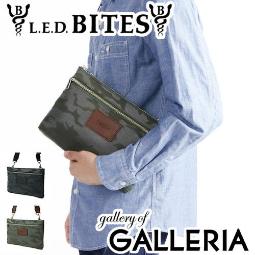L.E.D.BITES エルイーディーバイツ クラッチバッグ  GIGY ジギ― ショルダー 迷彩 メンズ B-5700