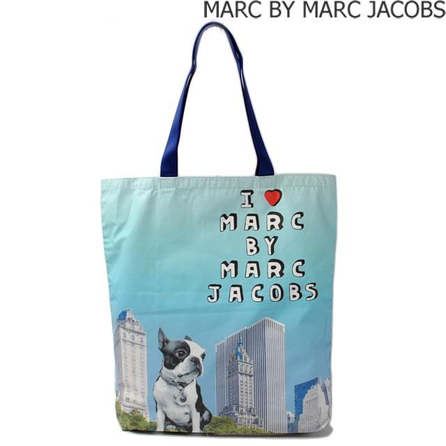 マークバイマークジェイコブス ショッピングバッグ/エコバッグ  MARC BY MARC JACOBS ジェット セット ペッツ M0003017 ドッグ アイスブルー