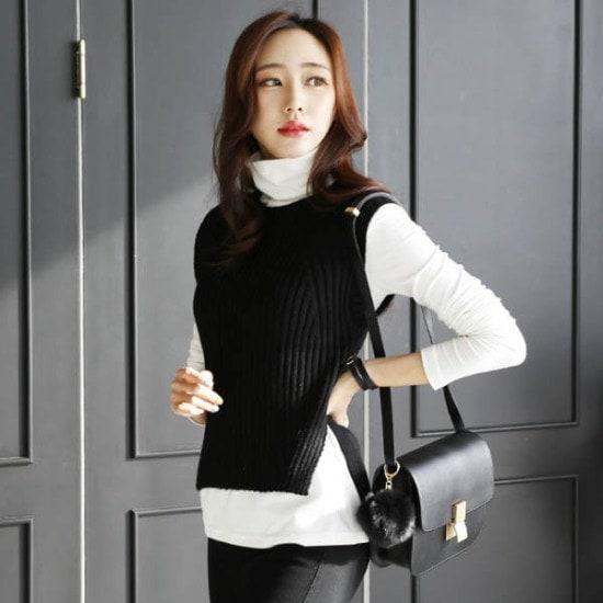 シークフォックスデルリンニットベスト ベセチュウ / ニット・ベスト/ 韓国ファッション