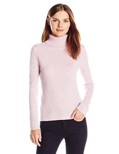 Lark & Ro Womens 100% Cashmere Slim-Fit Turtleneck Sweater, Vintage Blush, X-Large