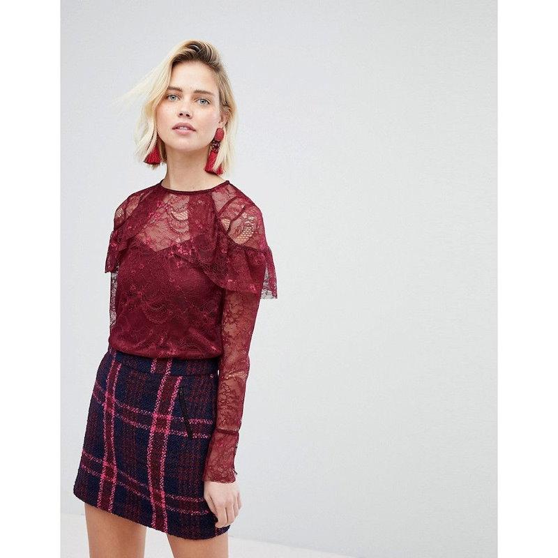 ウェアハウス レディース トップス【Warehouse Lace Top】Red