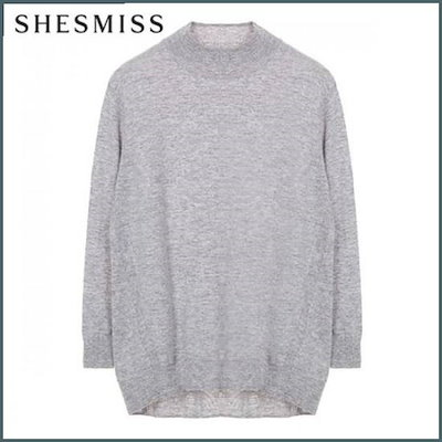 [シーズ・ミス][ハーフクラブ/、シーズ・ミス]ソウルのカシミヤソリッドプルオーバーSSKPOI41070LG /ニット/セーター/ニット/韓国ファッション