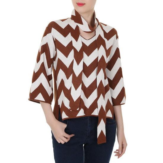 シシコレクトジグザグパターン7部ニートC153KSK010 ニット/セーター/韓国ファッション