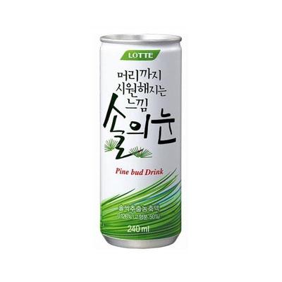 『LOTTE』 松の芽|松の芽抽出物配合(缶・250ml) ロッテ 健康飲料 韓国ドリンク 韓国飲み物 韓国食品