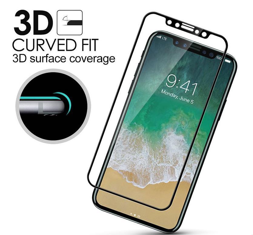 【メール便対応】iPhone11/11 pro/11Pro Max/Xs/Xs MAX/X/XR 3D カーボンエッジ フルガラス 全面フルカバーガラス 強化ガラス 【iphone 保護