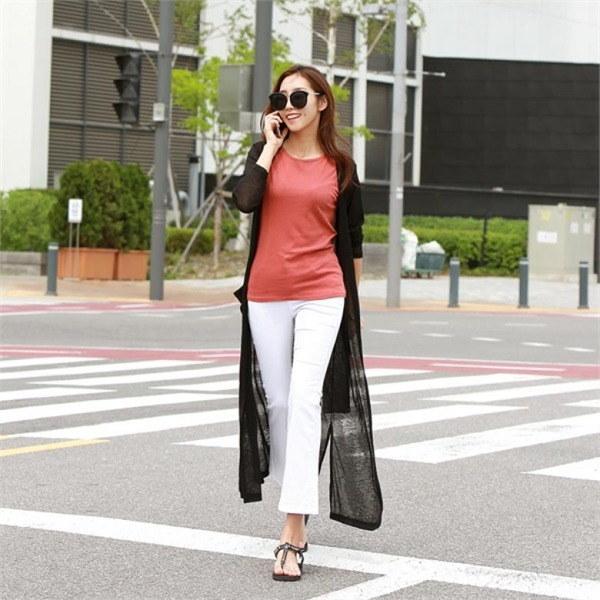 ピピンメイビルロングカディゴン20671 new 女性ニット/カーディガン/韓国ファッション