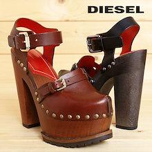 ディーゼル DIESEL サボサンダル 靴 レディース 本革 レザー ウッドソール 厚底 チャンキーヒール DHARLA die-l-k-84-235
