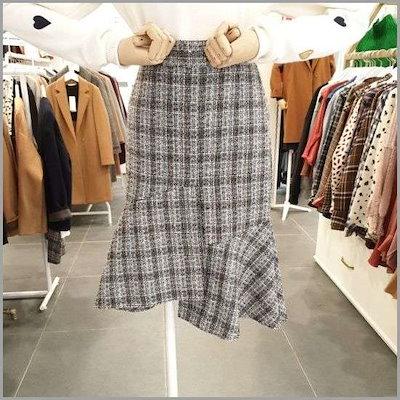 [イプね]コーヒービーンスカートDI9WSK04 /スカート/Hラインスカート/ 韓国ファッション