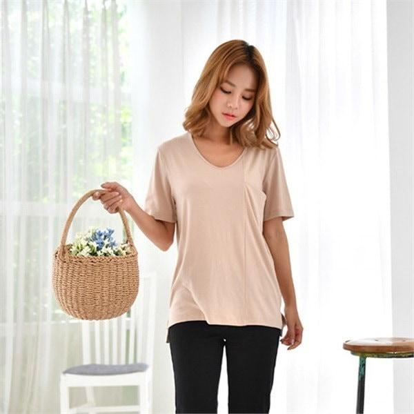 コロッケベーシックティーシャツ8種セットnew 女性ニット/ Vネックニット/韓国ファッション