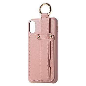 エレコム iPhone X ケース カバー レザー 落下防止ベルト付き for Girl ピンク PM-A17XPLOB1PN