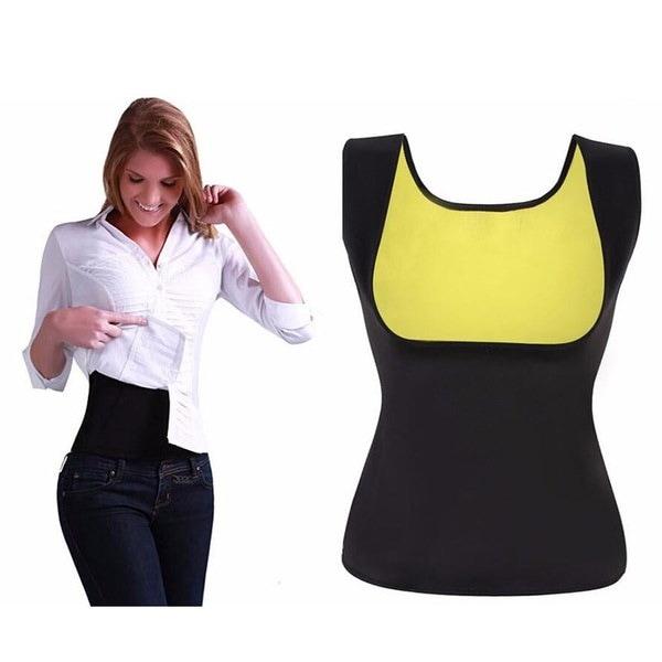 女性のファッションウエストトレーナーボディシェイパーコルセットスウェットベストトレーナーベルトスリミングシェイパー