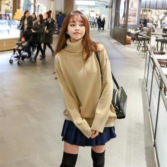 ボンジャショップボンジャ制作心臓がどかんとタートルネックニット ニット/セーター/ニット/韓国ファッション