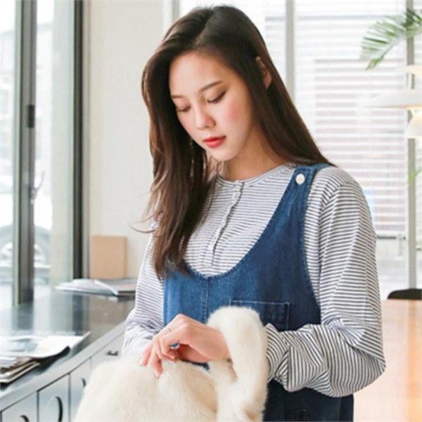 ビックサイズジェイ・スタイルベロンスヘンリネクティーシャツnew 女性ニット/ラウンドニット/韓国ファッション