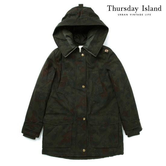ソスデイアイルランドThursday Island女性起毛プリントジャンパーT158MJP233W 像/サファリジャンパー/ 韓国ファッション