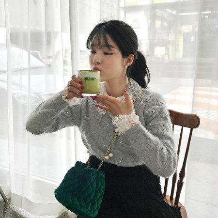 【Imvely]グローリーデイアンゴラニットkorean fashion style