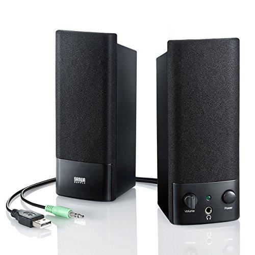 サンワサプライ USB電源マルチメディアスピーカー MM-SPL2NU2