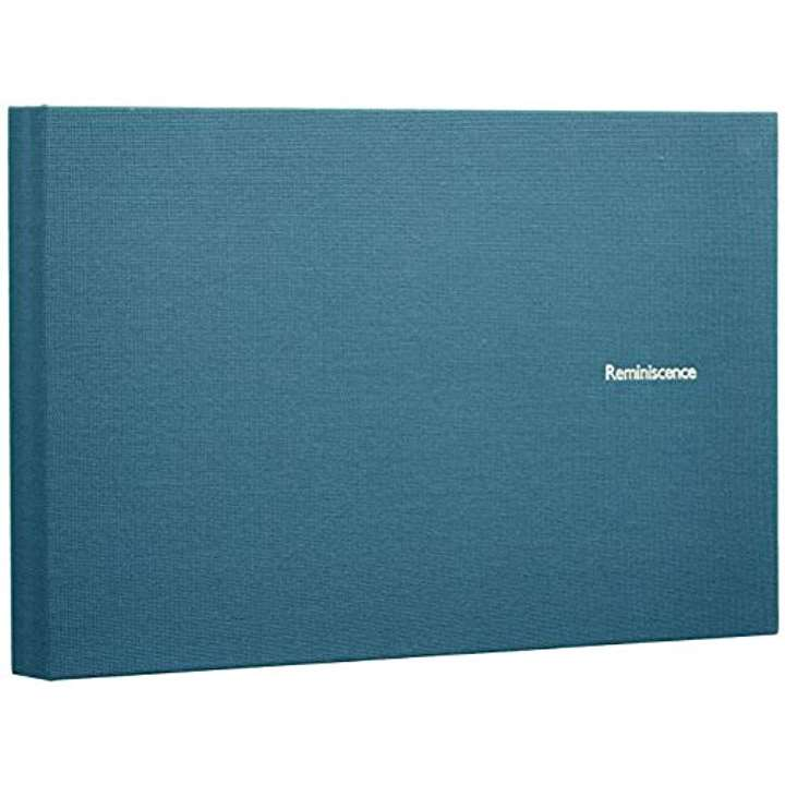SEKISEI アルバム ポケット ハーパーハウス レミニッセンス ミニポケットアルバム 2Lサイズ 40枚収容 21〜50枚 布 XP-40G(ブルー 2L)