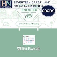 2次販売 [送料無料] SEVENTEEN wafen broach Seventeen CATAT LAND 2019 SVT 3rd FAN MEETING official Goods