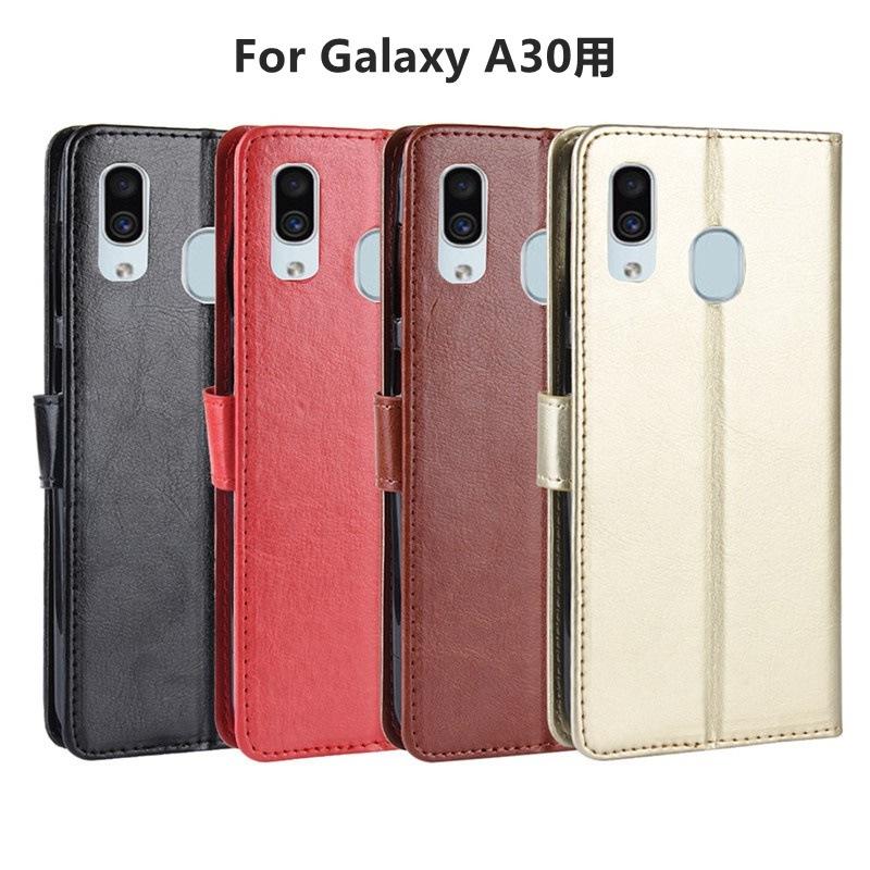 Galaxy A30/A20 用レザーケース/レザーカバー手帳型/財布型保護カバー/スタンドカバーギャラクシー 【J199-2】