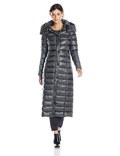 Soia & Kyo Womens Lyra Long Maxi Down Coat, Midnight, Medium