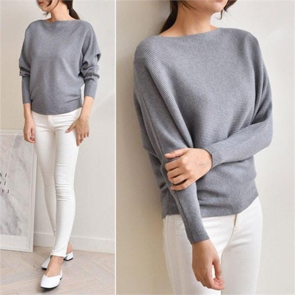 エイピットシンプルニット[D2700]ジュディnew 女性ニット/ラウンドニット/韓国ファッション