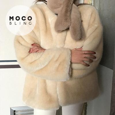 【MOCOBLING】 韓国ファッション ジャケット /暖かいファー- fur