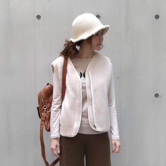 ポンジェイドムブルのベスト2color ベセチュウ / ニット・ベスト/ 韓国ファッション