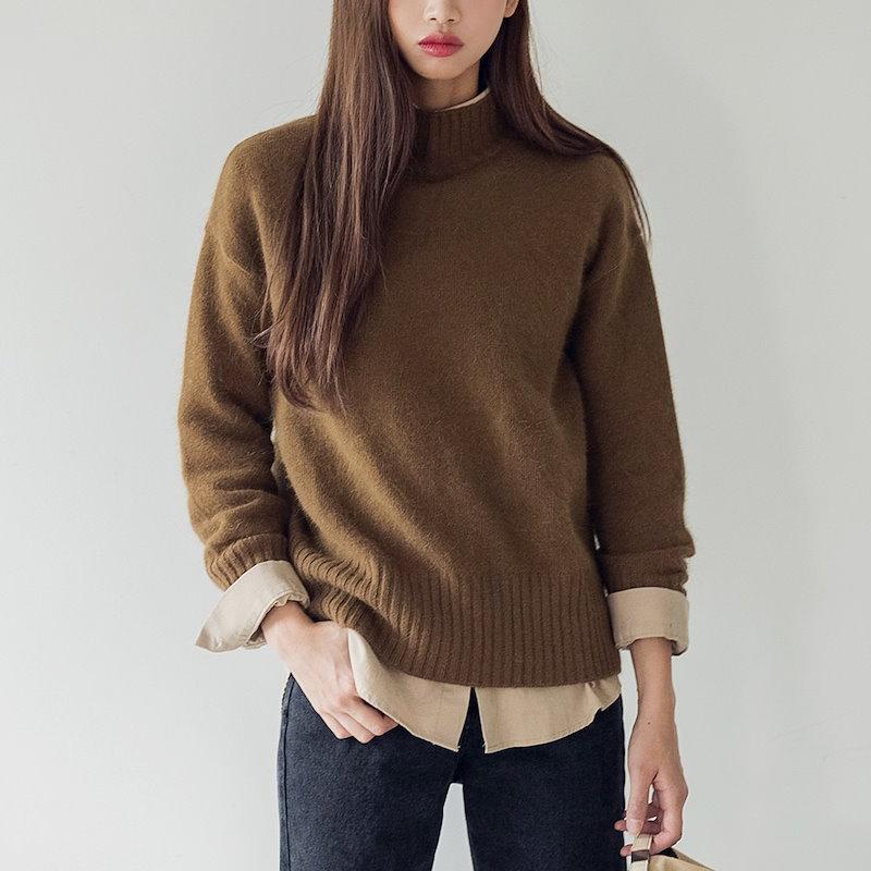 【送料無料】★韓國ファッション★smooth golgi angora KN♥滑らかなゴルジアンゴラKN