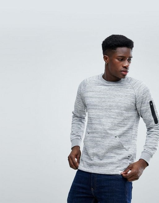 Only & Sons Raglan Sweatshirt With Technical Arm Pocket