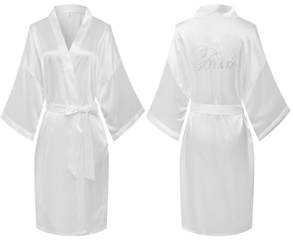 浴衣・花嫁衣装の浴衣サテン・ウェディングローブ(サイズ:S)
