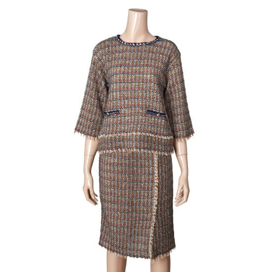 つけた・ツイードプルオーバーMHDKL902 ニット/セーター/韓国ファッション