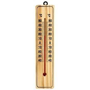壁掛けフック付 木製温度計 31-123 12個