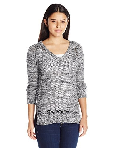 Roxy Juniors A Three Hour Tour Sweater, True Black, Large
