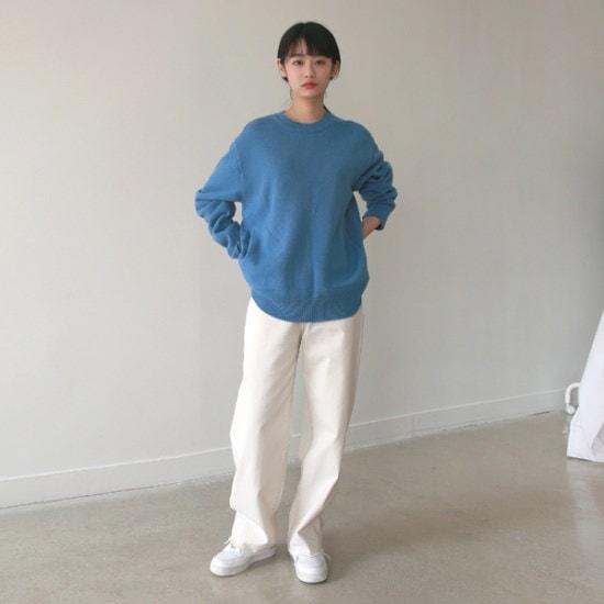 デイリー・マンデーPocket round knitニート ニット/セーター/ニット/韓国ファッション