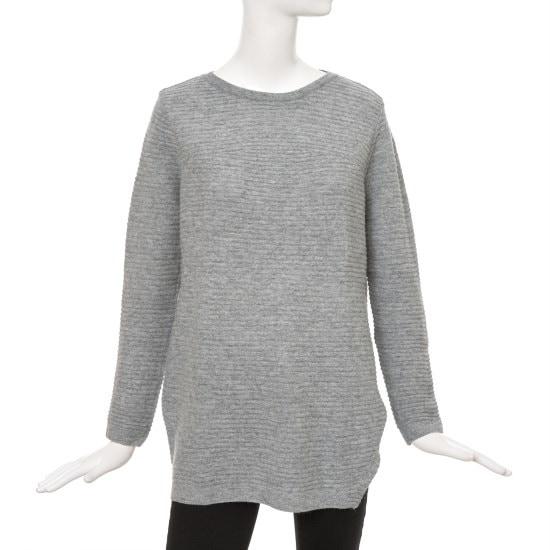 ケネス・レディーラウンドロングニートEKPOGJ01 ロングニット/ルーズフィット/セーター/韓国ファッション