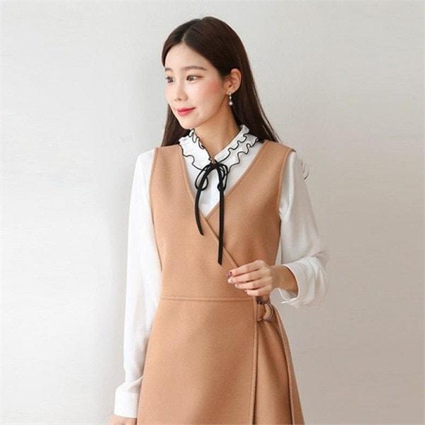 hand madeboy fit vintage wool coat 女性のコート/ 韓国ファッション/ジャケット/秋冬/レディース/ハーフ/ロング/