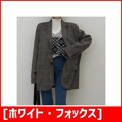 [ホワイト・フォックス][ホワイト・フォックス]パクシピッグルレンチェックのジャケット /ジャケット/テーラードジャケット/韓国ファッション