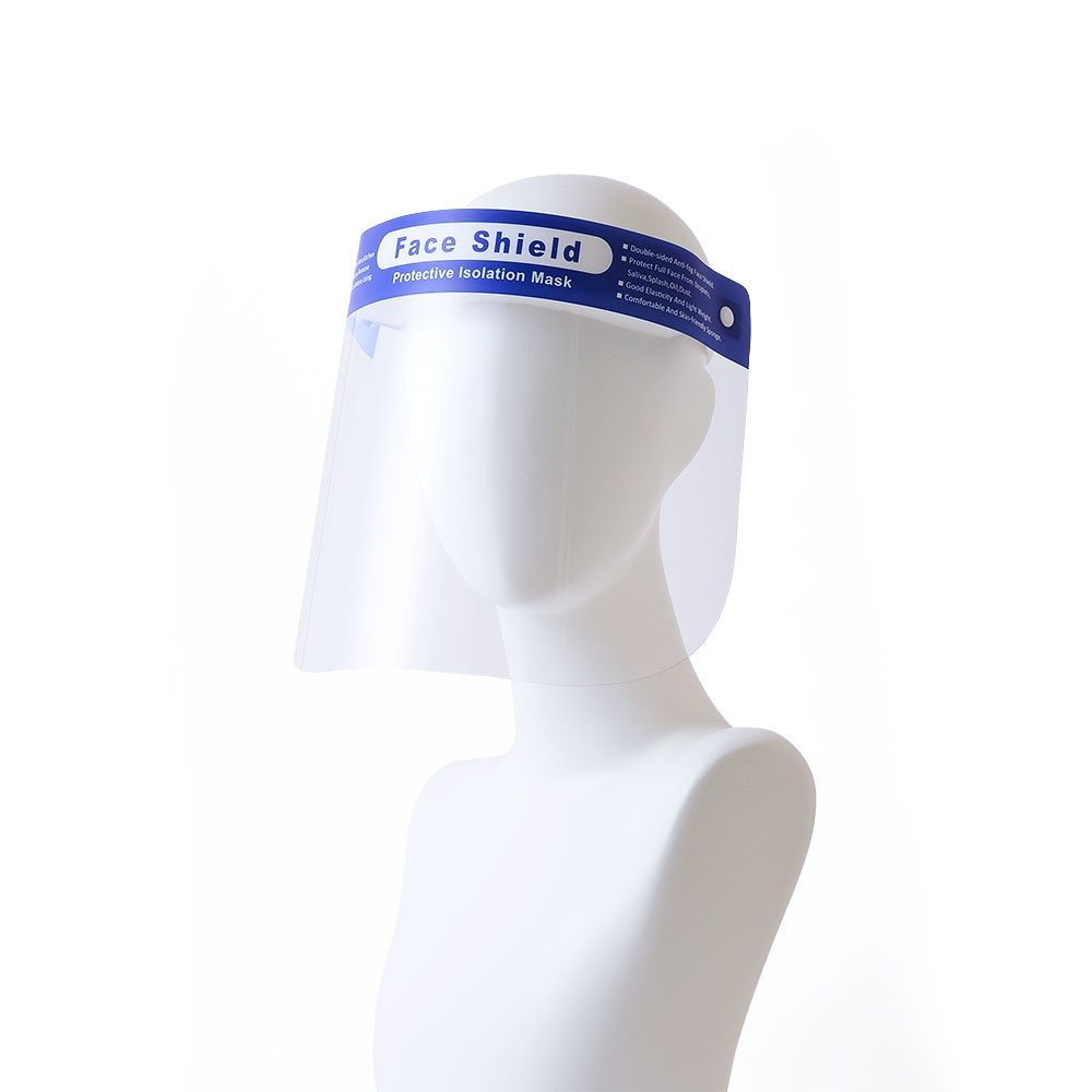 【1枚】フェイスシールド 国内発送 男女兼用 シールド 防護 飛沫防止 フェイスガード フェイスカバー ウイルス対策 軽量 プラスチック製 新生活様式