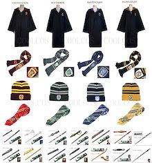 コスプレ衣装 ハロウィン 衣装 変装 コスチューム 大人/子供 USJ ハリーポッター Harry Potter 風 魔法の杖 ユニバーサルシティ 衣装/マフラー/帽子/ネクタイ6点セット 選択自由