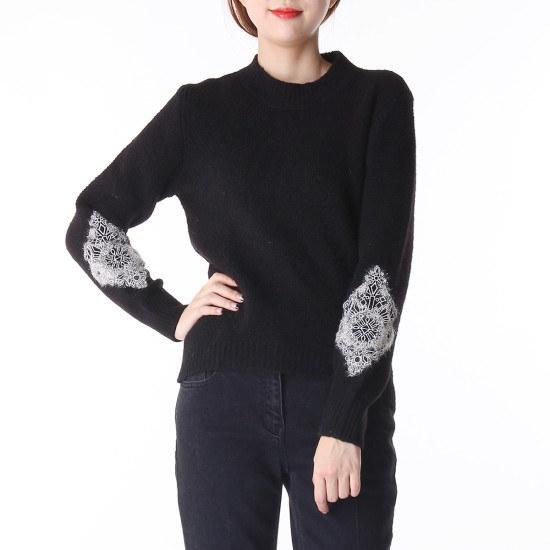 ボブ衣類シルバーメタルニート71261 50052 ロングニット/ルーズフィット/セーター/韓国ファッション