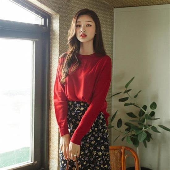 ボンジャショップボンジャ製作基本的ラウンドニットティー ニット/セーター/ニット/韓国ファッション