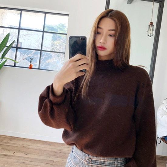 欲しいかバブルパフニット ニット/セーター/ニット/韓国ファッション